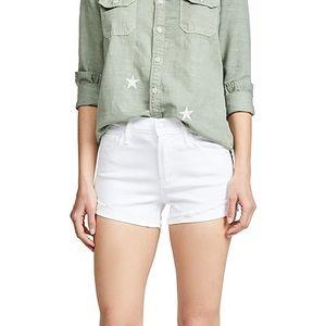 NEW MOTHER The Rascal Slit Flip Shorts-29, WHITE